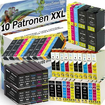 10x XL Tinte Patronen für Epson Expression Home Premium Stylus Office Workforce
