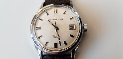 Vintage Everite King Incabloc Swiss made 17 jewel men's wrist watch with date