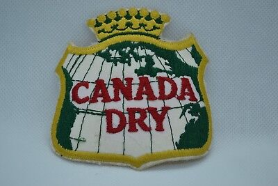 Canada Dry Embroidered Patch,  unused vintage NOS