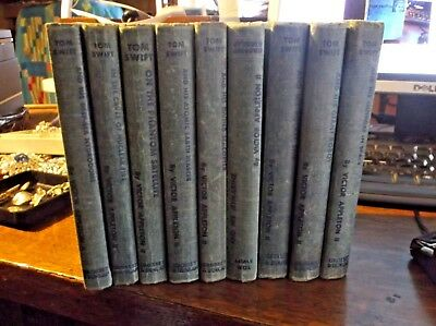 Lot of 10 Vintage Tom Swift Books from the 1950's