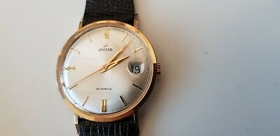 Vintage Swiss made Enicar 25 jewel men's wrist watch & magnified date
