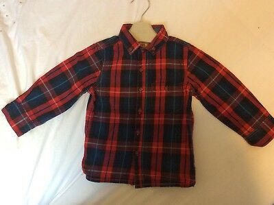 next boys 18-24 months Red Checked Shirt