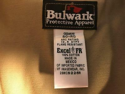 891e505a6d6 Bulwark Protective Apparel Excel FR coveralls beige size 50-R ARC rating  10.6 AT