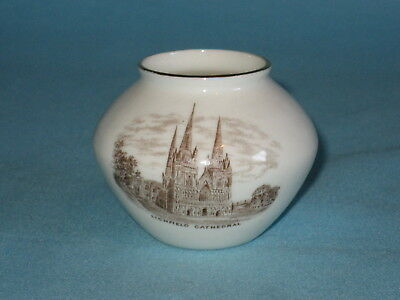 Goss Kettering Urn* - LICHFIELD CATHEDRAL sepia transfer