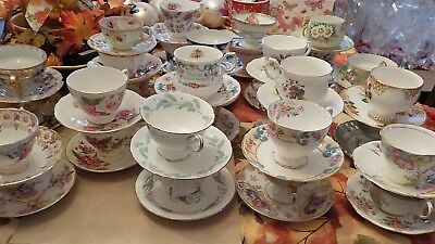 Lot Vintage Tea Cups and Saucers 35 Matching Sets Fine Bone China