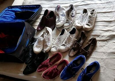 Joblot Vintage Converse All Stars, Vans and 1 pair of Stan Smith's. All size 9