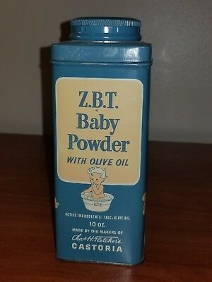 Vintage ZBT Baby Powder Tin 10 oz