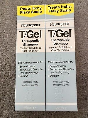 2x Neutrogena T GEL Therapeutic Shampoo 250ml (LARGE BOTTLES)