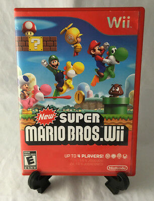 New Super Mario Bros. Wii (Nintendo Wii, 2009) CASE ONLY - NO MANUAL OR GAME