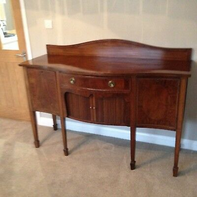 Antique Serpentine Fronted Sideboard