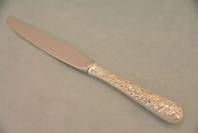 "S Kirk & Son Repousse Sterling Silver 7-1/8"" Youth Knife No Monogram"