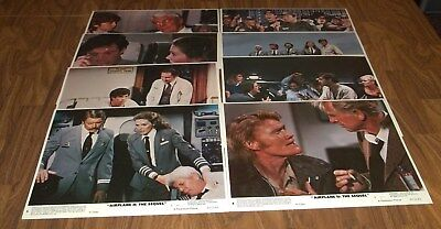 FULL SET OF 8X10 LOBBY CARDS AIRPLANE 2: THE SEQUEL Robert Hays, Julie Hagerty