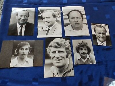 7 Press Photos - Manchester City players & manager 1970's/80's