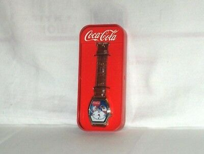coca cola santa Christmas watch with tin (2010 Limited editition)