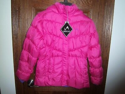 Kids Youth Girls Jacket VERTICAL'9 Insulated Hooded Ski Winter Snow Coat Xl 16
