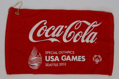 Hard To Find Coca Cola Special Olympics 50th Anniversary 2018 Seattle Towel Golf