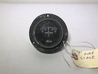 "Vintage Original Ford Model T Amperes 3"" Gauge Amp Discharge Charge Meter"