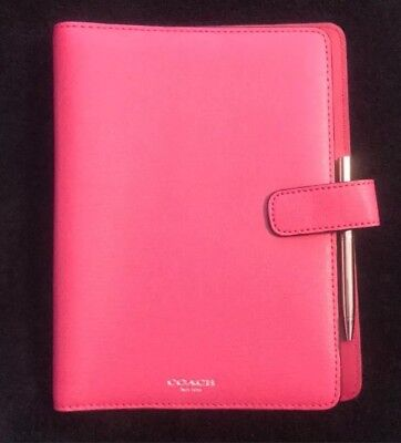 NWT Pink Coach Agenda Planner With Pen