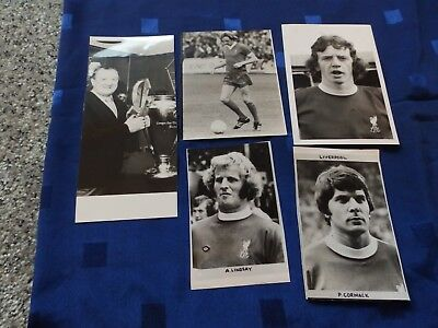 5 Press Photos - Liverpool Football players / manager 70's/80's