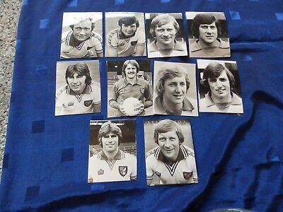 10 Press Photos - Norwich  Football players 70's/80's