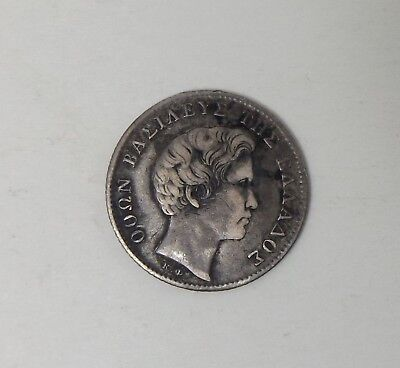 Greece 1/2 Drachma 1833 Silver Coin, King Othon.