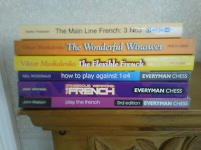 Chess book bundle- 6 books - French expert guides all in very good condition