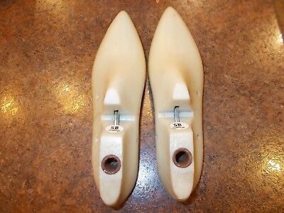 Vintage Pair Womens Shoe Forms/lasts Sterling Size 5 B Cora From 1966