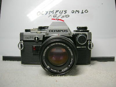 Olympus OM 10 with manual adapter and lens