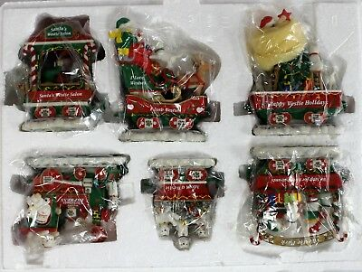 Danbury Mint Westie Christmas Express Train Set West Highland Terrier Figure Set