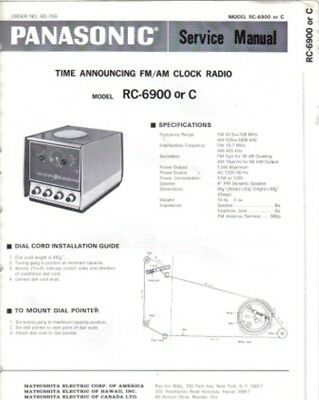 Panasonic Service Manual For Rc-6900 Or C