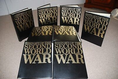 Complete Set HISTORY OF THE SECOND WORLD WAR MAGAZINES + 8 BINDERS (Purnell)