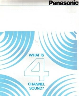 Panasonic Service Manual For What Is 4 Channel Sound