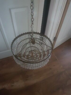 antique chandelier beautiful glass crystal.