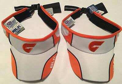 2 visors AFL GWS Giants, official, brand new with tags, Greater Western Sydney