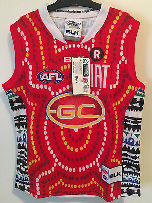 AFL GOLD COAST SUNS Aboriginal Indigenous, size 10 rare collectible jersey new