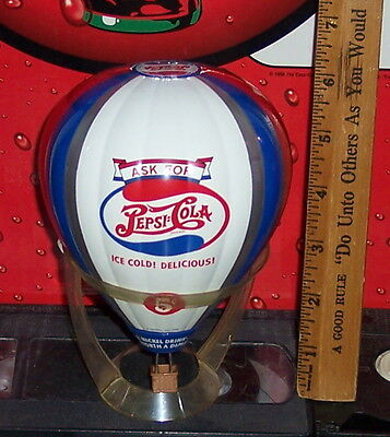 1998 Pepsi-Cola Brand Die-Cast Metal Hot Air Balloon Bank
