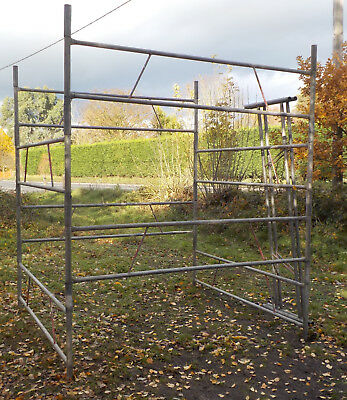 10 Section Very Strong Galvanised Scaffold Tower - Reach Height 16 Feet