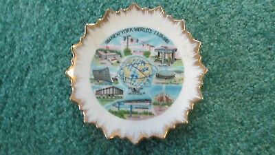 New York World's Fair 1964-1965 Souvenir Mini Plate Unisphere 4""