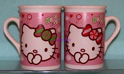 HELLO KITTY SET of 2 CUPS MUGS MICROWAVE & DISHWASHER SAFE 2011