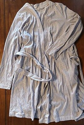 Maternity Bump In The Night Cover Robe Sleep Xl Extra Large Pink Gray Stripe
