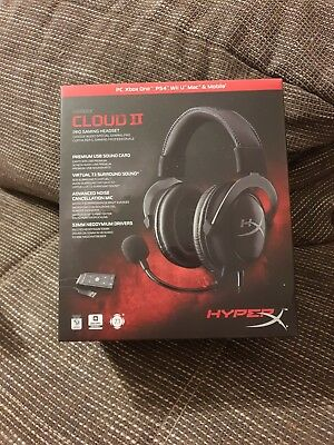 Hyperx Cloud 2 Gaming Headset für PC Ps4 Wii Mobile Neu np 89.99€