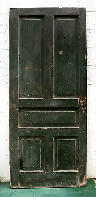 "33""x79""x1.75"" Antique Vintage Victorian Wood Wooden Exterior Interior Door Panel"