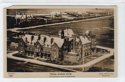 MARINE HOTEL, TROON PHOTOGRAPHED FROM AN AEROPLANE: Ayrshire postcard (C38979)