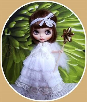Blythe doll Christmas Angel dress with wings by Nellykecollection   ** NO DOLL**