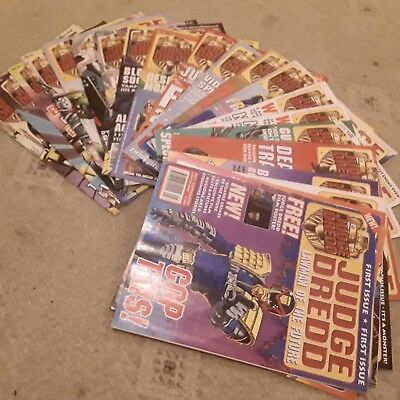 vintage comics Judge Dredd Lawman of the future. first issue - 23 copies  2000AD