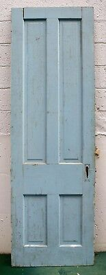 "28""x90"" Antique Vintage Old Victorian Solid Wood Wooden Interior Door 4 Panels"