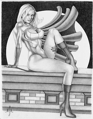 POWER GIRL Original Art by Michael Armstrong DC COMICS