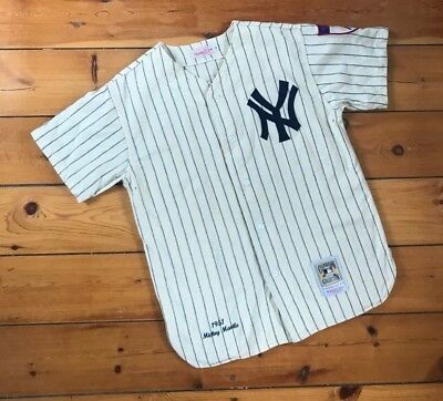 Mickey Mantle New York Yankees NY Jersey Mitchell & Ness Cooperstown Collection