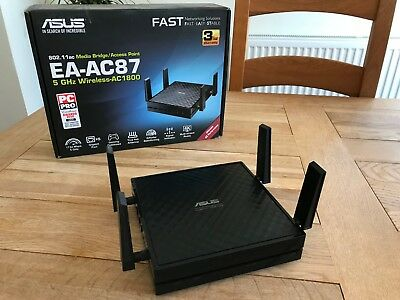 Asus EA-AC87 5 GHz Wireless-AC 1800 Media Bridge/ Access Point