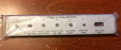 RARE Vintage McDonnell Douglas Stress Coining Aluminum Engineering Template